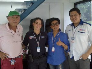 Foto Bersama; H. Tinton Soeprapto (Direktur Sirkuit Sentul), Ana Ezpeleta (New Track Development Manager en Dorna Sports), Lola Moenek (GM Sirkuit Sentul) dan Budi Silaban (PT. Shell Indonesia)